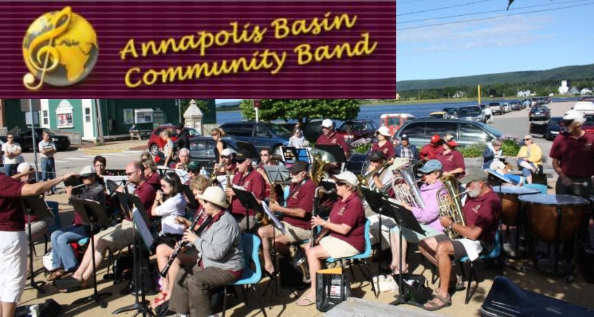Annapolis Basin Community Band - group shot w logo