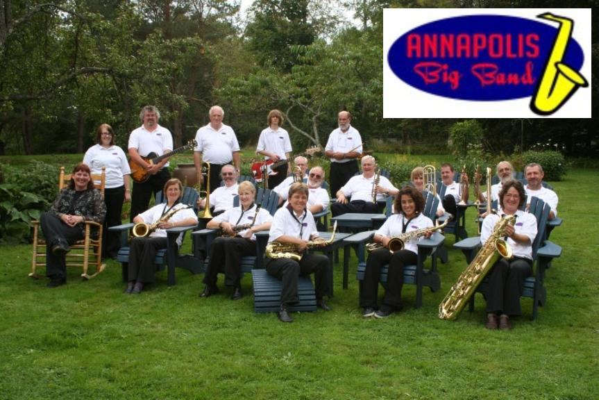 Annapolis Big Band - group shot w logo