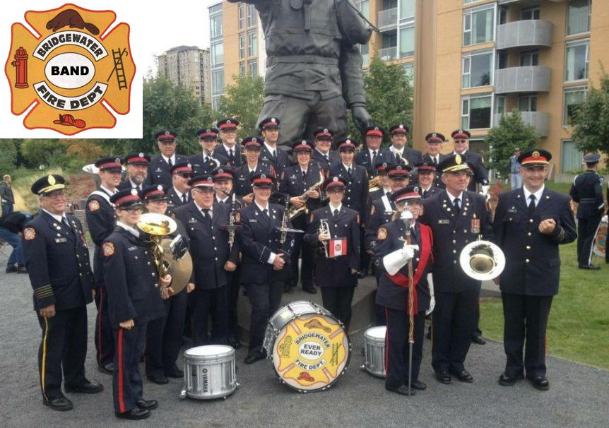 Bridgewater FD Band - group shot w logo