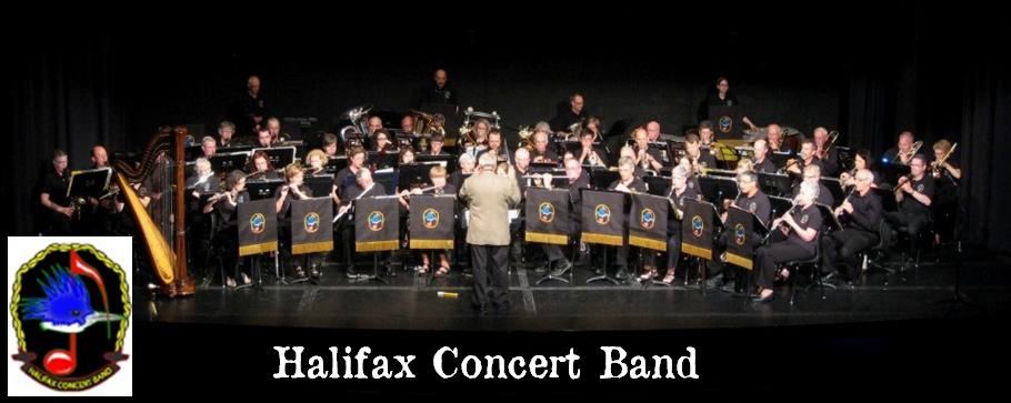 Halifax Concert Band - group shot w logo