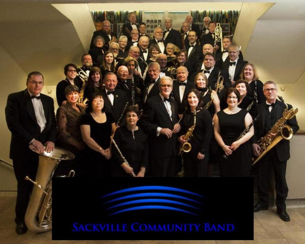 Sackville Community Band - group shot w logo