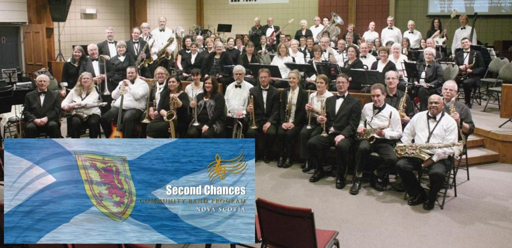 Second Chances Community Band NS - group shot w logo