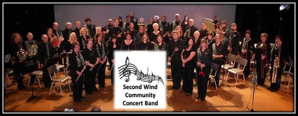 Second Wind Community Band - group shot w logo