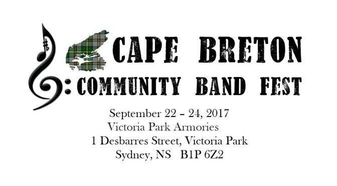 Cape Breton Fall Bandfest September 22-24, 2017